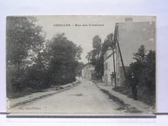 77 - CHELLES - RUE DES CARRIERES - ANIMEE - 1919 - Chelles