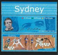 FRANCE - ANNEE 2000 - La Paire N° 3340Aa (J.O De SYDNEY Avec Vignette Henri DIDON) - Neuf Luxe - Unused Stamps