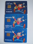 3 Chip Phonecards From Denmark - Sydbank