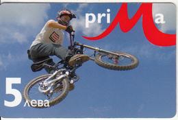 BULGARIA - BMX, Prima Prepaid Card 5 Leva, Exp.date 31/12/09, Used