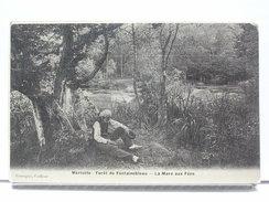 77 - MARLOTTE - FORET DE FONTAINEBLEAU - LA MARE AUX FEES - ANIMEE - Autres Communes