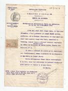Récépissé De Déclaration De DEBITS DE BOISSONS , Commune D'ONNAING , Nord , 1927 , Timbré  , Frais Fr : 1.55 € - Vieux Papiers