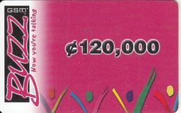 GHANA - BUZZ Prepaid Card C120000, Used