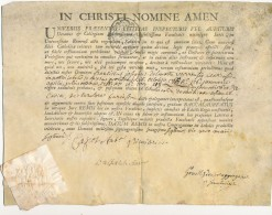 1765 - Diplôme De L'université De Reims - Fransiscus Josephus Delmotte - Baccalaureatus +++ Texte En Latin - Diploma & School Reports