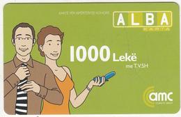ALBANIA - AMC Prepaid Card 1000 Leke, Exp.date 27/03/09, Used