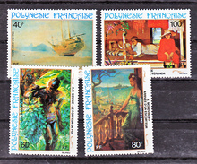 Polynésie PA 178 181 Tableau D'artistes Polynésiens Neuf ** MNH Sin Charmela Cote 11 - Arte