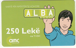 ALBANIA - AMC Prepaid Card 250 Leke, Exp.date 06/06/08, Used