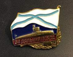 Russia Navy Submarine Forces Badge For A Long Trip With A Submarine,New ! - Navy