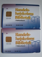 2 Chip Phonecards From Denmark - Bibliotek