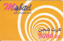 SUDAN - Mobitel Prepaid Card(matt Surface) 5000 SD, Exp.date 14/11/04, Used - Sudan