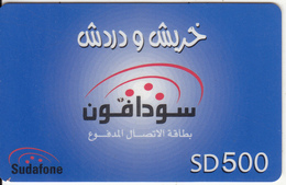 SUDAN - Sudafone Prepaid Card(plastic) SD 500, Used - Soudan