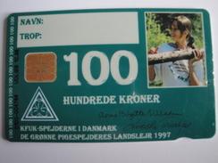 1 Chip Phonecard From Denmark - Jamboree