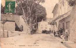 CPA FABREZAN Avenue De La Gare - Carte Animée - Scans Recto-verso - Autres Communes