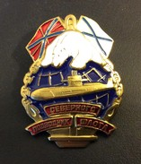 Russia Navy Submarine Forces Badge Northern Fleet Submariner,New ! - Navy