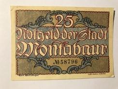 Allemagne Notgeld Montabaur 25 Pfennig NEUF - [ 3] 1918-1933 : République De Weimar