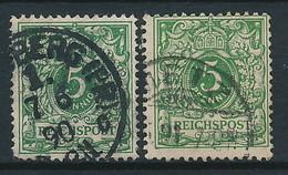 D. Reich Nr. 46 A Und 46 B Farbgeprüft (Michel 10,00 Euro) - Germany