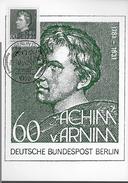 ALLEMAGNE   BERLIN Carte Maxi 1981 Poete Achim Von Arnim