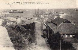 CPA  SETE  - CETTE  (34)  Vue Générale Du Fort - Le Stand Et Le Jeu De Tennis - Route De La Corniche - Tramway/  Menier - Sete (Cette)