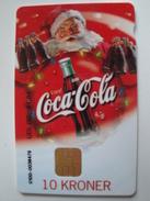 1 Chip Phonecard From Denmark - Coca-Cola - Santa Claus