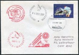 2007-8 Russia Polar Antarctic Antarctica Ship Ice-breaker Expedition Penguin Marion Island Cover - Expéditions Antarctiques