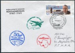 2011 Russia Polar Antarctic Antarctica Ship Ice-breaker Expedition Cover - Antarctic Expeditions