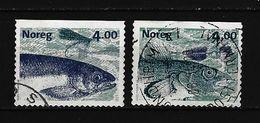 NORWEGEN - Mi-Nr. 1301 - 1302 Angeln Gestempelt (1) - Norwegen