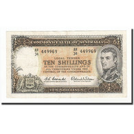 Australie, 10 Shillings, 1961-1965, KM:33a, TB+ - Pre-decimaal Stelsel Overheidsuitgave 1913-1965