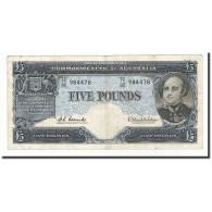 Australie, 5 Pounds, 1960-65, KM:35a, TB+ - Emissions Gouvernementales Pré-décimales 1913-1965