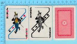 Cartes à Jouer - 2 Joker  - Arriere Clasique - 2 Scans - Cartes à Jouer Classiques