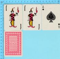 Cartes à Jouer - 2 Joker + As De Pique - Arriere Clasique - 1 Scans - Cartes à Jouer Classiques