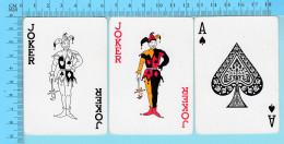 Cartes à Jouer - 2 Joker + As De Pique , Fou Du Roi - Arriere Clasique - 2 Scans - Cartes à Jouer Classiques