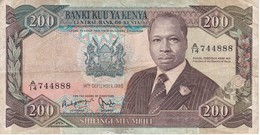 BILLETE DE KENIA DE 200 SHILINGI DEL AÑO 1986 (BANK NOTE) - Kenia