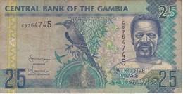 BILLETE DE GAMBIA DE 25 DALASIS DEL AÑO 2001  (BANKNOTE) - Gambia