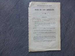 GARD 1851, Explusion Des Mendiants étrangers Au Département, Etc ; Ref 762 VP 29 - Documents Historiques