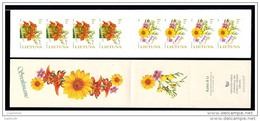 LITHUANIA 2005 Flowers Self-adhesive Booklet  MNH / **.  Michel 866-67 MH - Lithuania