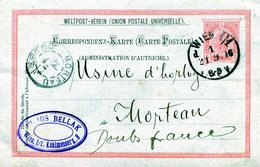AUTRICHE  WIEN  VIENNE   ENTIER POSTAL VOYAGE EN 1896 ETS BELLAK - 1850-1918 Impero