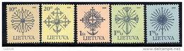 LITHUANIA 2000 Definitive Set Of 5  MNH / **.  Michel 717-21 A I - Lithuania