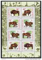 LITHUANIA 1996 WWF: European Bison Sheetlet MNH / **. Michel 599-602 Kb - Lithuania