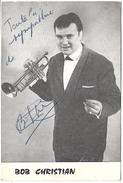 Musicien - BOB CHRISTIAN - Autographe - Chanteurs & Musiciens