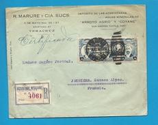 Mexique - YT355 (x3) Sur Lettre De VERACRUZ Pour JAUSIERS (Basses Alpes). Pas Courant. 1919 - Mexique