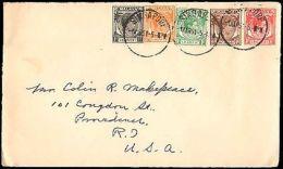 1951 SINGAPORE MULTI KINGS TO UNITED STATES - Francobolli