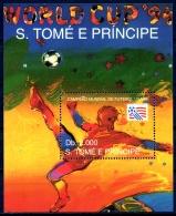 Sao Tome E Principe, 1993, Soccer World Cup USA 1994, Football, MNH, Michel Block 303 - Sao Tome Et Principe