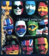 Sao Tome E Principe, 1993, Soccer World Cup USA 1994, Football, Flags, MNH, Michel Block 304 - Sao Tome Et Principe