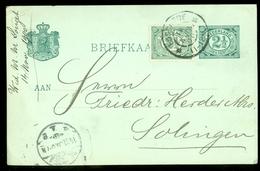 NEDERLAND HANDGESCHREVEN BRIEFKAART Uit 1900 Van ENSCHEDE Naar SOLINGEN * 2 X NVPH 55 (10.624c) - Periode 1891-1948 (Wilhelmina)