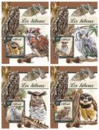 DJIBOUTI 2016 - Owls. OFFICIAL Deluxe Sheets - Papegaaien, Parkieten