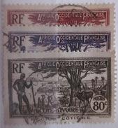 Cote D'Ivoire - YT 121 122 122A Obl - Côte-d'Ivoire (1892-1944)