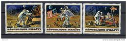 Haiti 1974 Space, Apollo 17,  UPU Centenary Set Of 3 With Overprint MNH