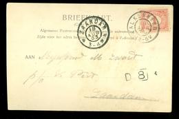HANDGESCHREVEN BRIEFKAART Van VALKENBERG Met PROTESTENTSCHE KERK  Naar ZAANDAM (10.624q) - Periode 1891-1948 (Wilhelmina)