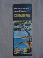 Ancien Horaire Papier Excursions Maritimes Costa-Brava 1963 - Europe