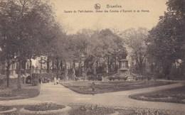 Brussel, Bruxelles, Square Du Petit Sablon, Statue Des Comtes D'Egmont Et De Horne (pk34649) - Places, Squares